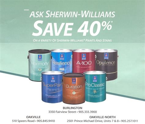 Sherwin Williams Save 40 On A Variety Of Paints And