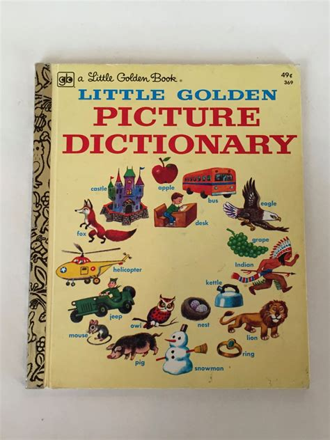 picture dictionary book picture dictionary a golden book 369 49 cents 1976