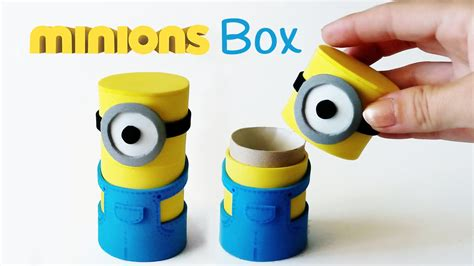 crafts made with diy crafts minions box from cardboard innova