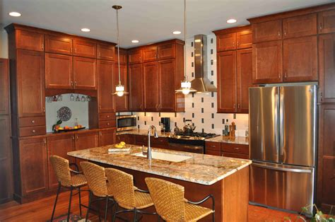 Cherry Cabinets by Cherry Kitchen Cabinets For More Beautiful Workspace
