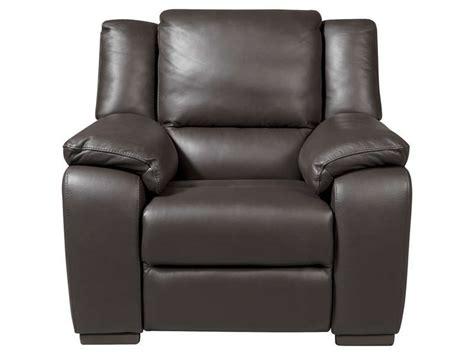 fauteuil relaxation en cuir saturday coloris expresso conforama