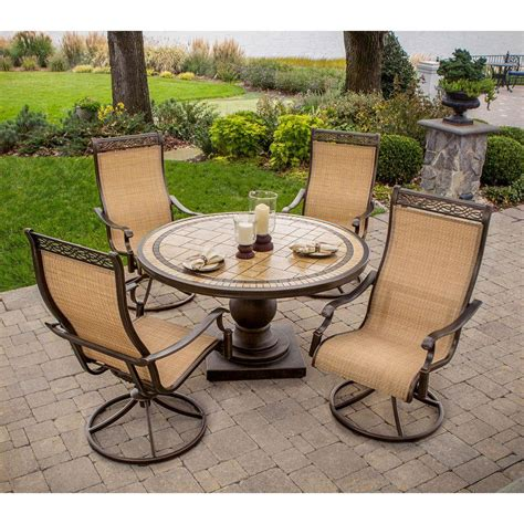 patio dining sets home depot hanover monaco 5 patio outdoor dining set