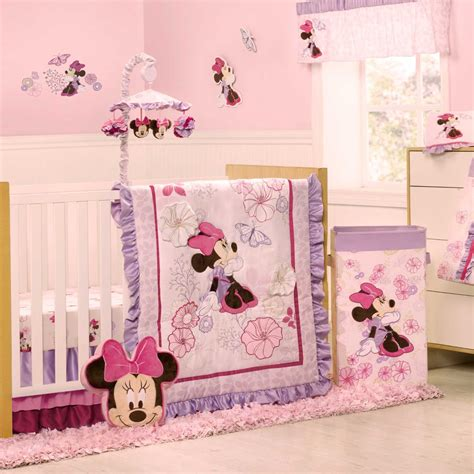 minnie mouse bedding for cribs kidsline minnie mouse butterfly dreams baby bedding