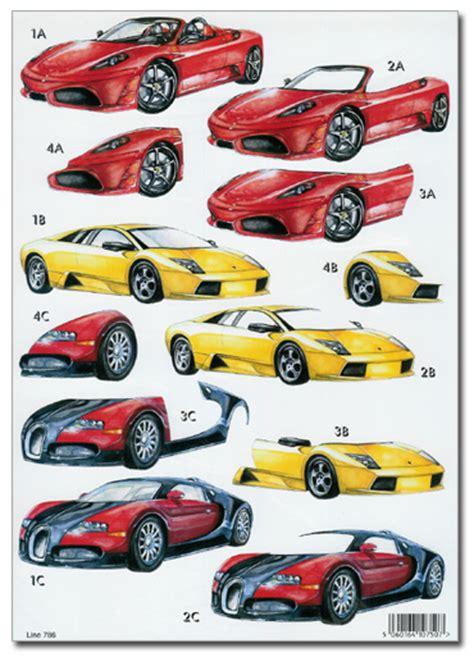 decoupage car sports hobbies decoupage pyramage card