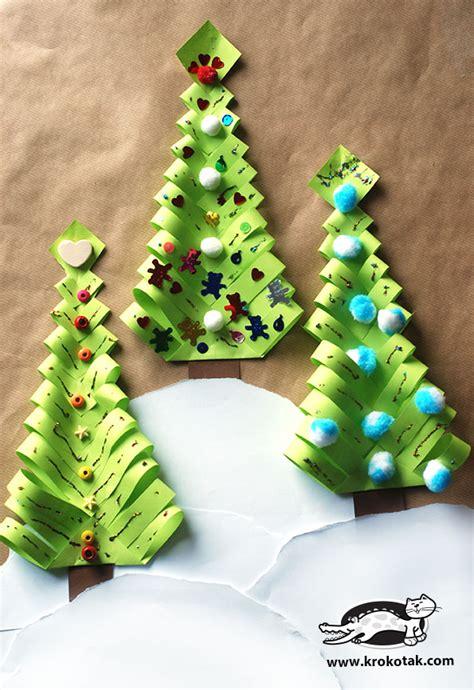 papier weihnachtsbaum krokotak diy paper trees