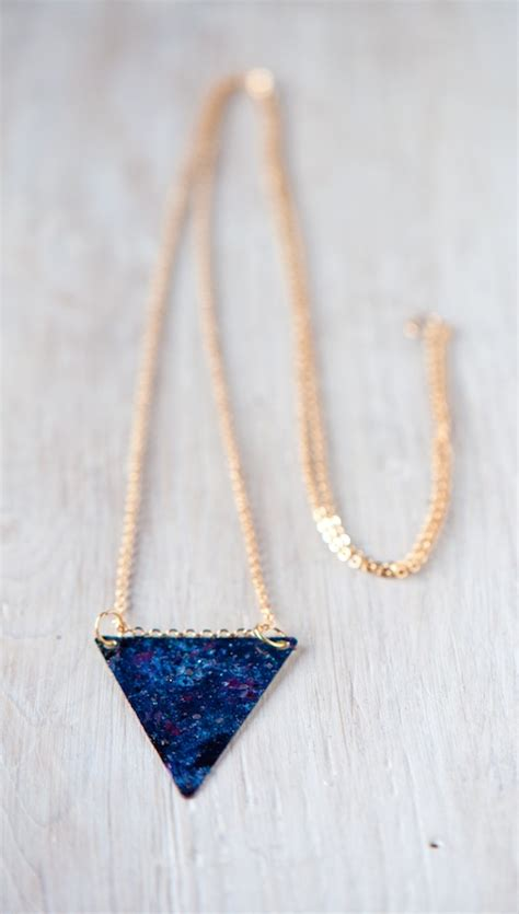 things to make jewelry oh the lovely things diy galaxy necklace