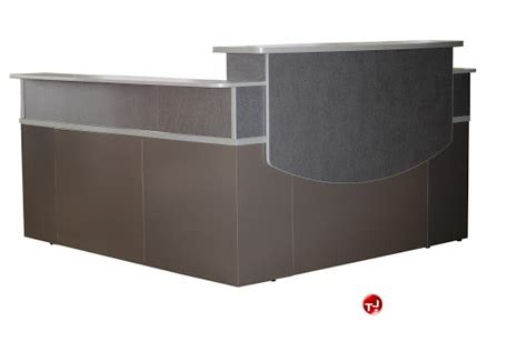 metal reception desk metal reception desk crafted restaurant business sleek