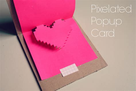 pop up cards for to make pixelated popup card it blissful