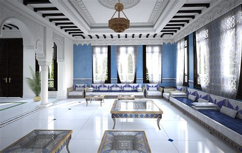 blue interior design living room moroccan interior design blue decor moroccan