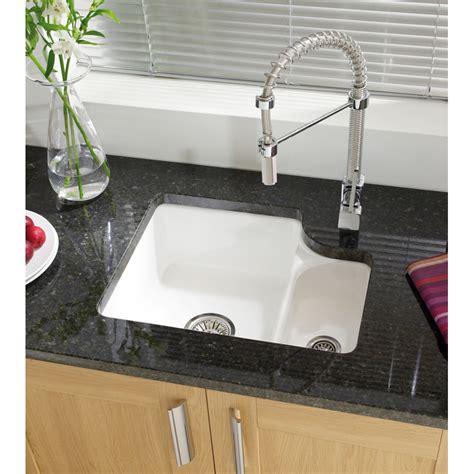 ceramic undermount kitchen sink astracast lincoln 1 5 bowl white ceramic undermount