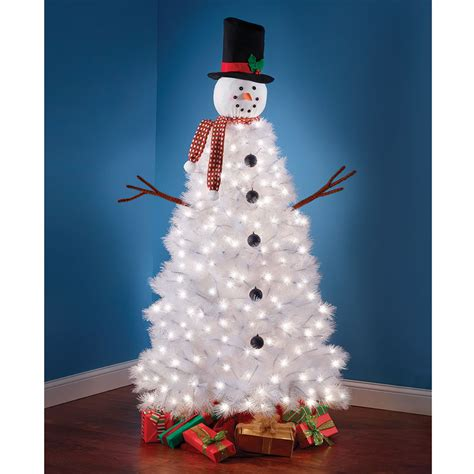 illuminated snowman the illuminated snowman tree hammacher schlemmer