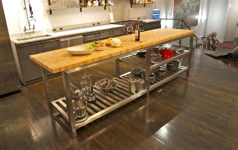 butcherblock kitchen island the best commercial kitchen islands modern kitchens