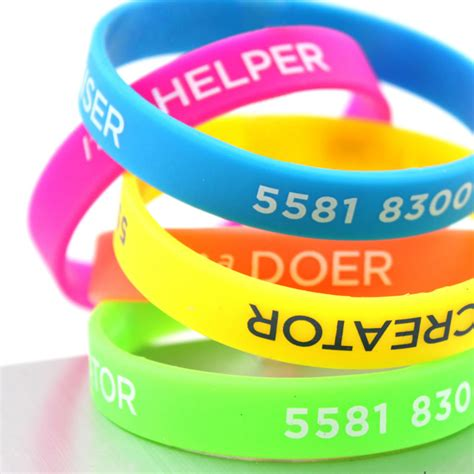 Silicone Wristbands Rubber Bracelets Slapbands Aac Id