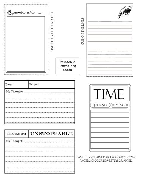 card free printable sweetly scrapped free printable journaling cards
