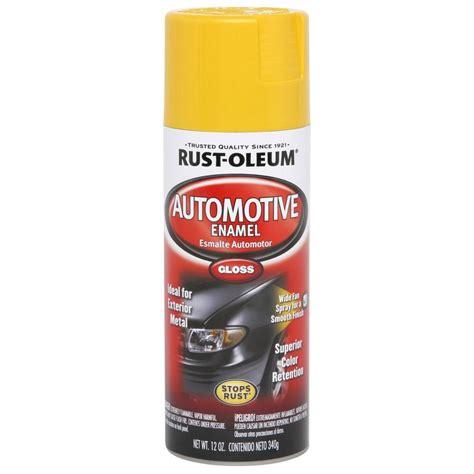 home depot spray paint yellow rust oleum automotive 12 oz gloss yellow enamel