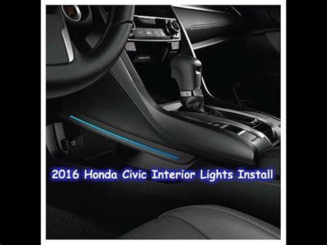 online service manuals 2011 honda civic interior lighting 2016 honda civic interior lights install youtube