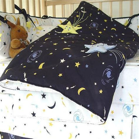 starry crib bedding set starry navy white and yellow moon and 7