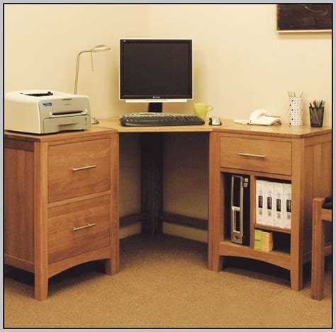 corner storage desk wood corner desk with storage desk home design ideas