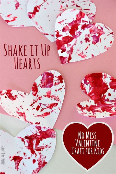 no mess crafts for shake it up hearts no mess craft for