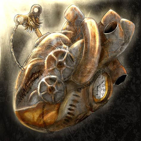mechanical heart by charlottechambers on deviantart