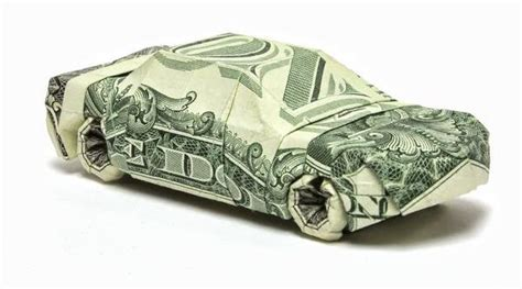 origami money car dollar origami by won park and design