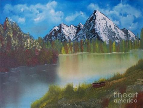 bob ross paintings mountains bob ross mountain lake 0 painting for sale