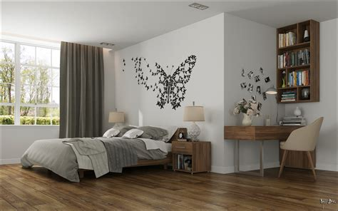 wall design for bedroom bedroom butterfly wall interior design ideas