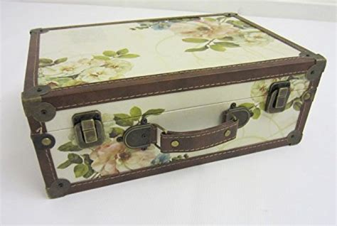 shabby chic suitcase shabby chic vintage floral design suitcase small