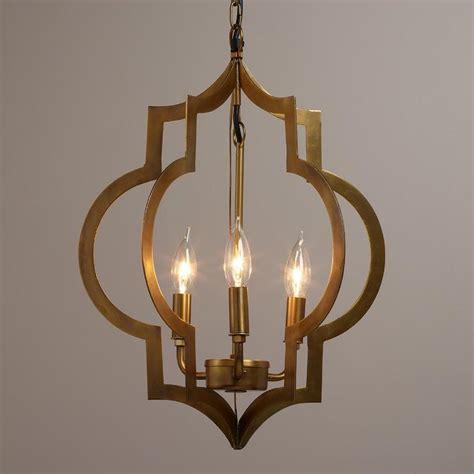 chandelier 3 light gold quatrefoil 3 light pendant l