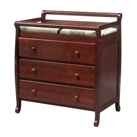 changing table drawer davinci emily pine wood 3 drawer changing table in cherry