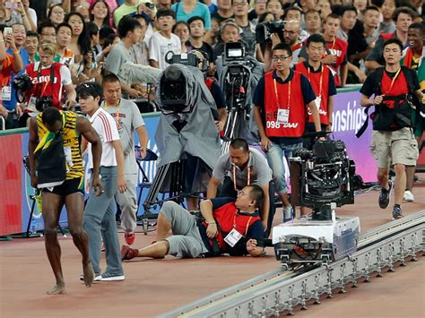 Usain Bolt Crash by Photographer On Segway Crashes Into Usain Bolt Denver7