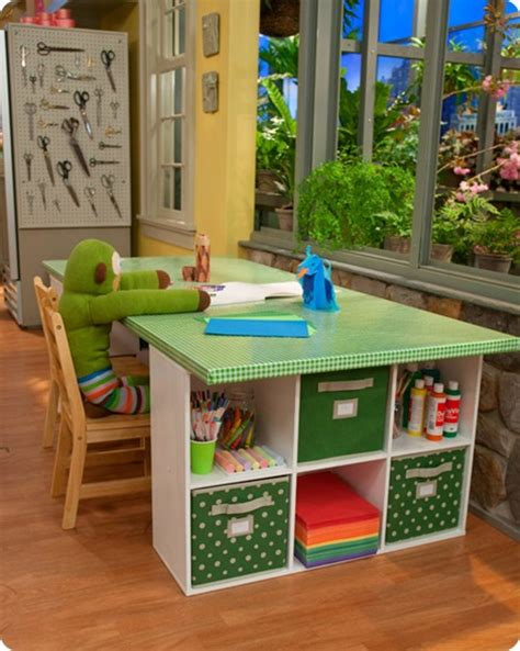 kid craft table with storage 5 great craft areas for