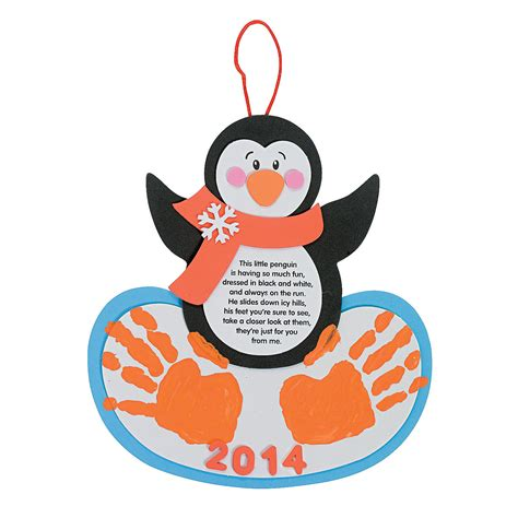 handprint craft for handprint penguin keepsake craft kit trading
