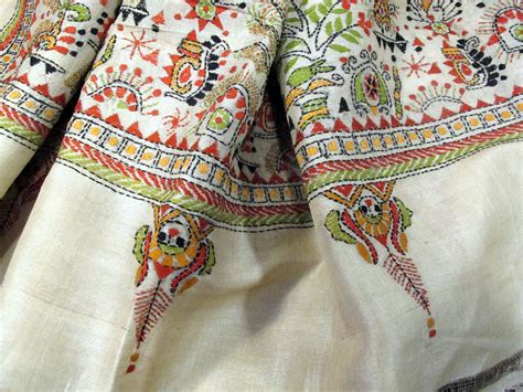 how to embroider on fabric loomed and embroidered fabric www dervis