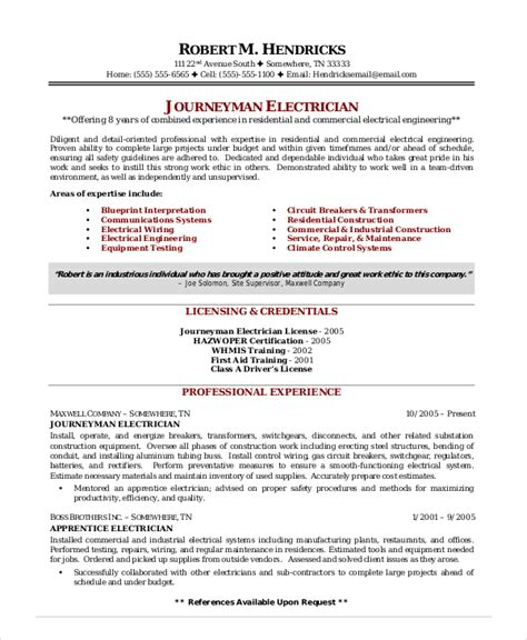electrician resume examples industrial electrician resume