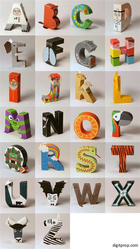 free paper crafts free printable paper craft alphabet 187 bellissima