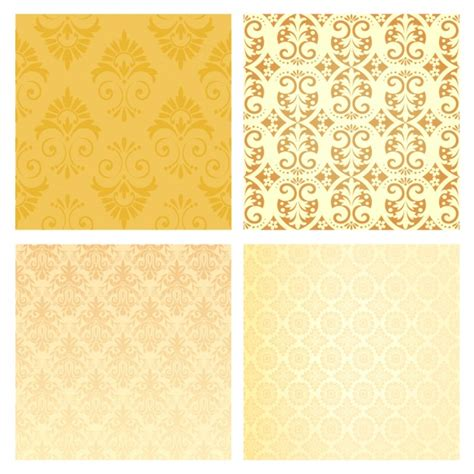 yellow ornaments yellow vintage ornaments collection vector free