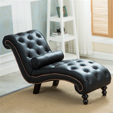 modern lounge sofa classic leather chaise lounge sofa with pillow living room