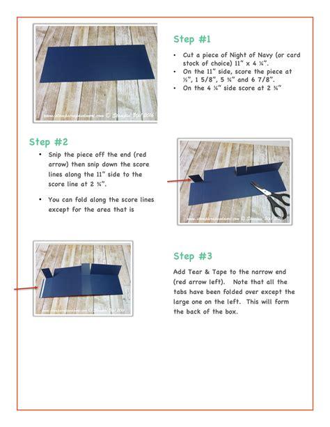 free card tutorials free tutorial horizontal card in a box