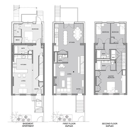 row home floor plan brownstone row house floor plans