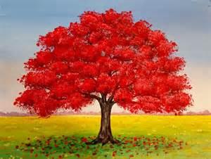 paint tree live oak tree fall landscape acrylic painting
