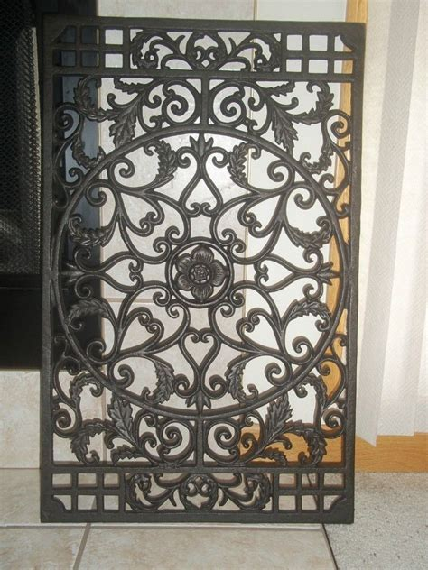 garden wall decor wrought iron wrought iron garden scroll wall decor grille on