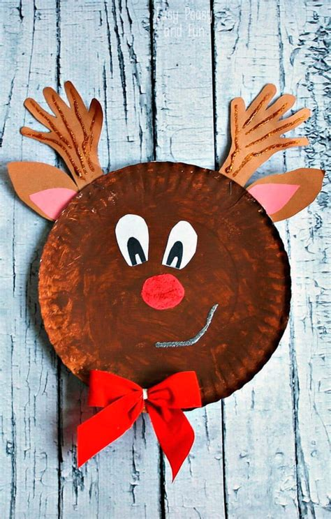 easy reindeer crafts for rudolph reindeer paper plate craft easy peasy and