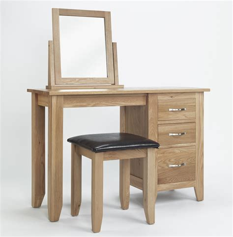 bedroom furniture with dressing table compton solid oak bedroom furniture dressing table mirror