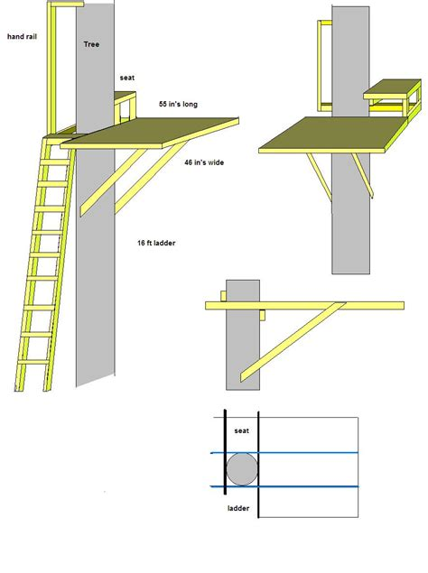tree stand plans wooden plans for wood deer stand pdf plans