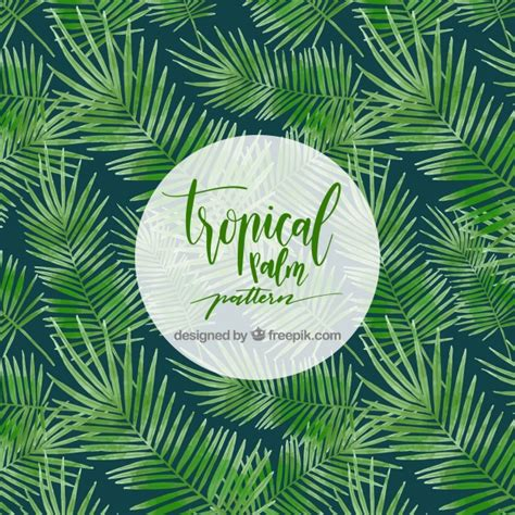 tropical tree tropical palm tree pattern vector free