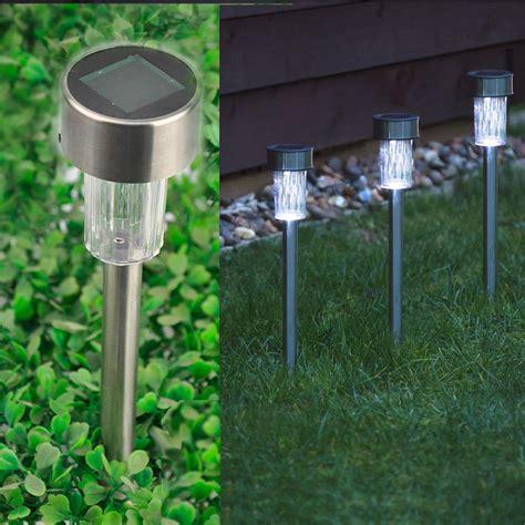 solar powered post lights for outdoors 10 x solar powered stainless steel led post lights garden
