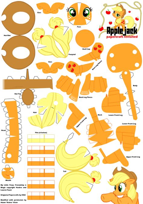 my paper crafting applejack 2 papercraft pattern by rettro on deviantart