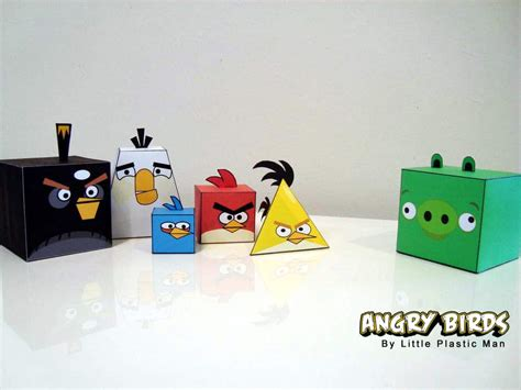 bird paper craft angry birds papercraft fold feather and fight bit rebels