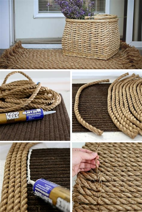 rope craft projects rope rug